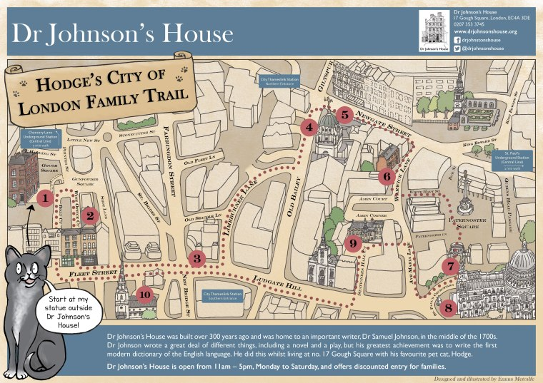 Illustration of the City of London in the 1700s during the life of Dr Johnson