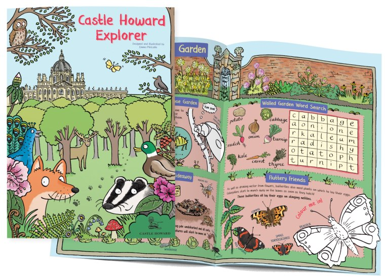 Castle-Howard-Explorer-Bespoke-Illustrated-Children's-Trail-by-Illustrator-Emma-Metcalfe