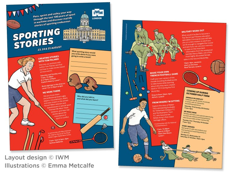 Imperial War Museum Sporting Stories Event Trail Leaflets Summer 2019